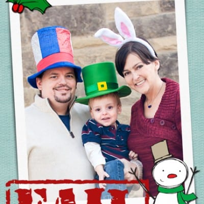 Funny Girl Family Christmas Cards