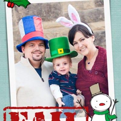 Funny Girl Family Christmas Cards