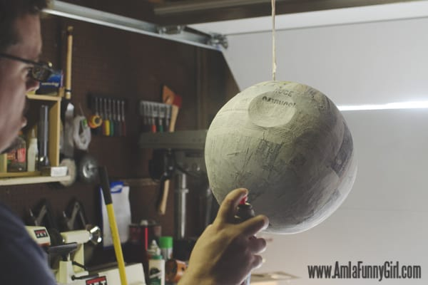 Painting our Death Star piñata