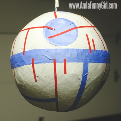 Our finished Death Star piñata