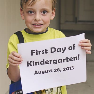 To Max, on his first day of kindergarten