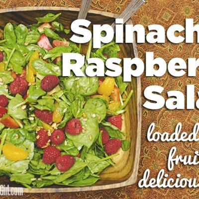 Yum! Spinach and Raspberry Salad #FreshFinds #shop