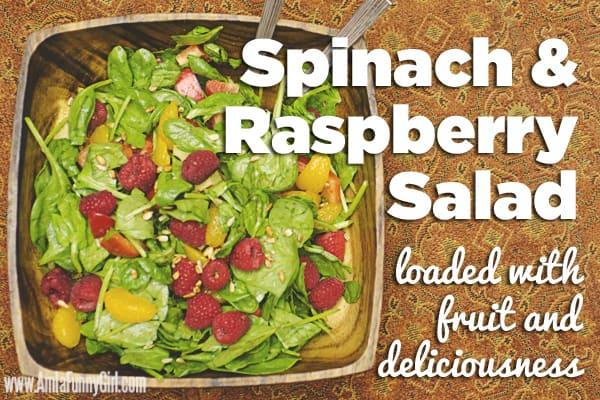#FreshFinds Spinach and Raspberry Salad #shop