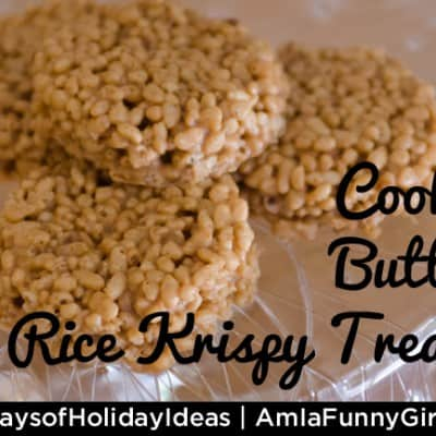 Day 11: Cookie Butter Rice Krispy Treats #25DaysofHolidayIdeas #recipe