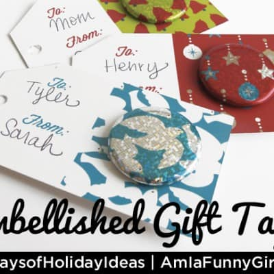 Day 15: Button-Embellished Gift Tags #25DaysofHolidayIdeas
