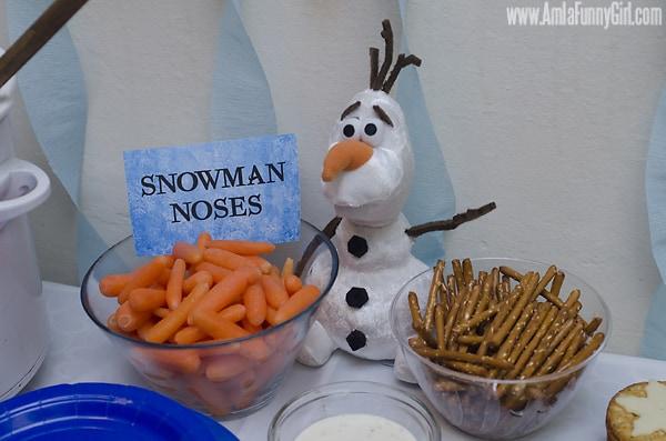 #DisneySide Frozen Olaf carrots