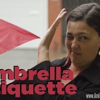I propose a universal umbrella etiquette standard