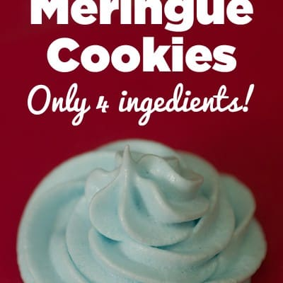 Easy Berry Blue Meringue Cookies