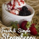 Simple Strawberry Sauce featuring @FarmboxSF and @Tillamook #IceCreamCraving
