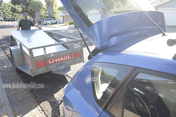 01 teardrop trailer aluminum in trailer