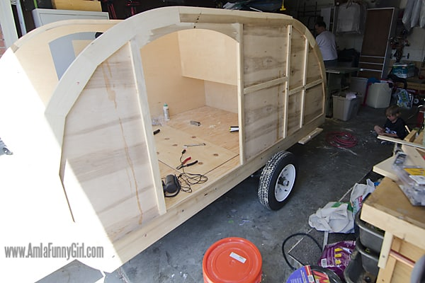 01 teardrop trailer walls skinned