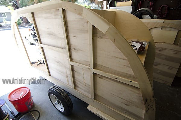 02 teardrop trailer walls skinned