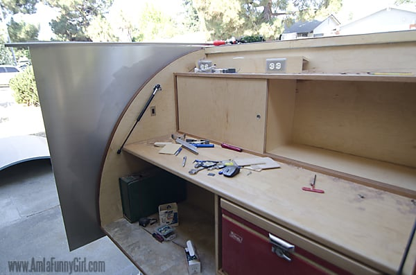 05 teardrop trailer aluminum skin from galley uncut