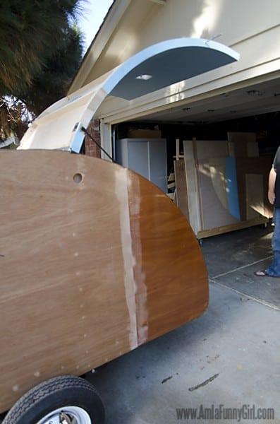 06 teardrop trailer hatch fitting side view