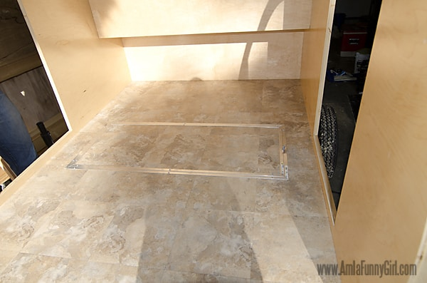 06 teardrop trailer vinyl floor storage