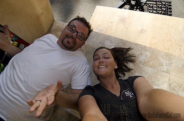 07 teardrop trailer floor selfie