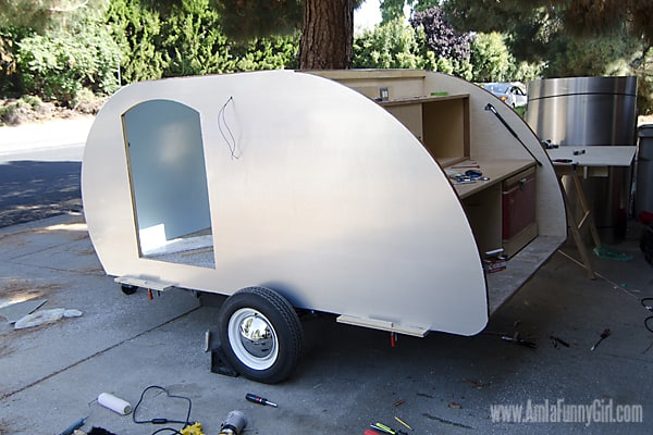 Homebuilt Teardrop Trailer 10: Exterior Aluminum Skin - More Than