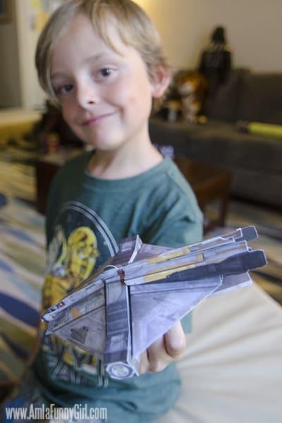 Max showing Star Wars Rebels Ghost model #sparkrebellion #shop