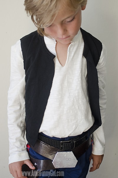 super easy Han Solo costume shirt