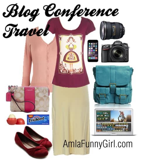 travel outfit for blog conferences