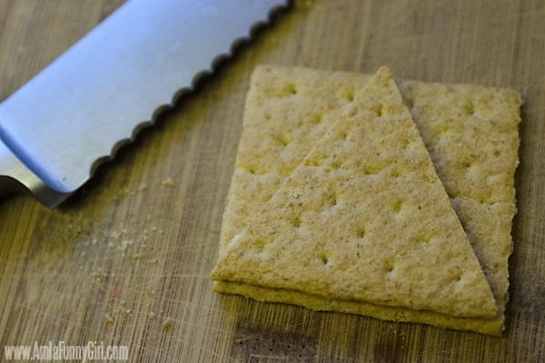 Cutting graham crackers - #PBandG #shop