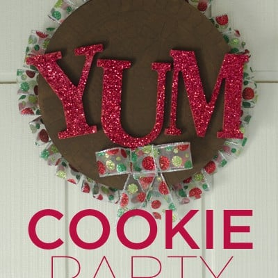 DIY Cookie Party Wreath