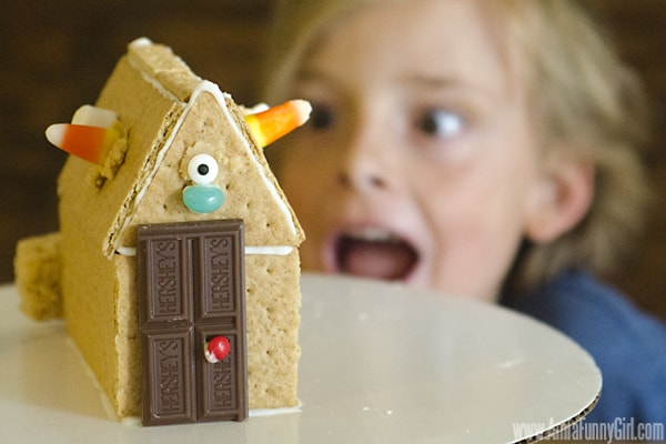 Max with gingerbread house - #PBandG #shop