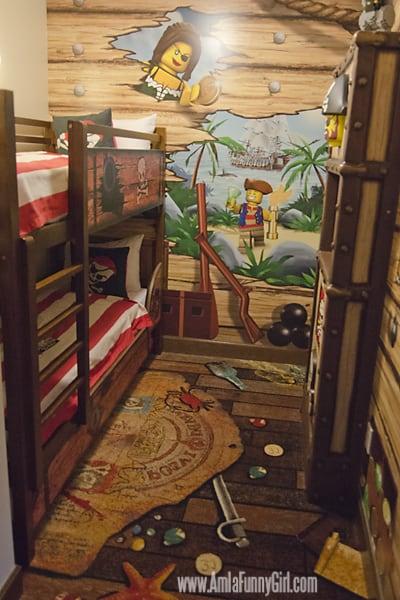 legoland hotel pirate bunk beds