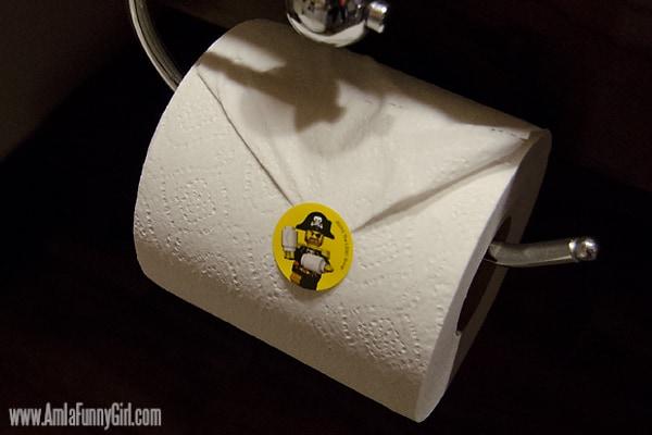 legoland hotel toilet paper