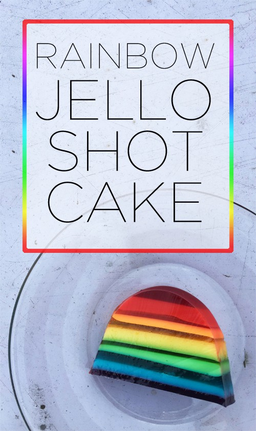 Layered Rainbow Jello Shot