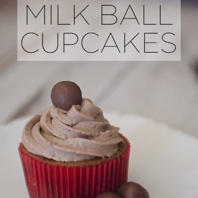Malted Milk Ball Cupcakes