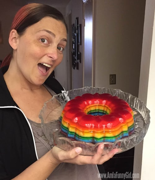 rainbow jello shot cake whole