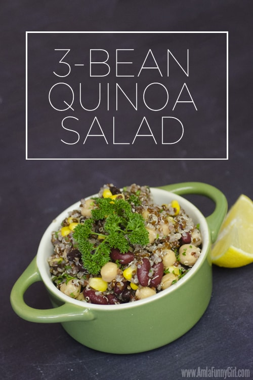 3-Bean Quinoa Salad #ChooseSmart #ad