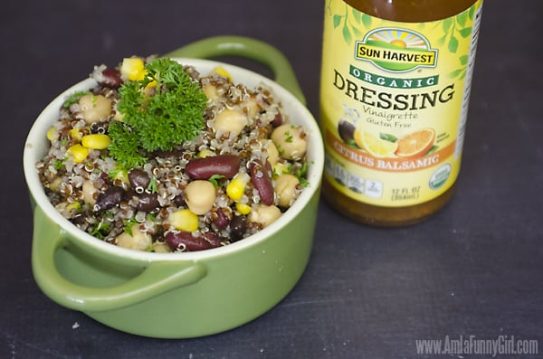 3-Bean Salad with dressing #ChooseSmart #ad
