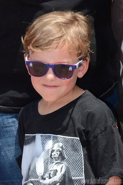 Visiting Epcot, age 7