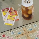 Saturdays are made for iced tea and Scrabble
