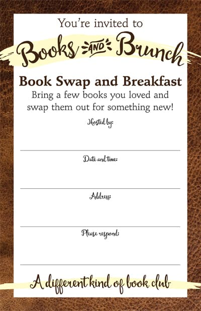 Books and Brunch Invite