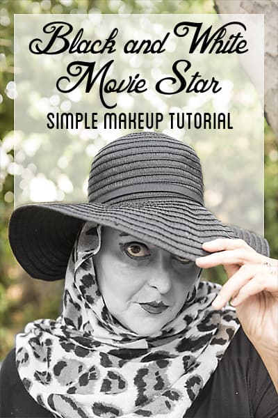 Black and white movie star makeup hallowcleanfaceoff ad