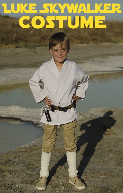The Force is Strong With This Kids Luke Skywalker Costume DIY. Our simple instructions will get your child will be ready to fight the Empire this Halloween.
