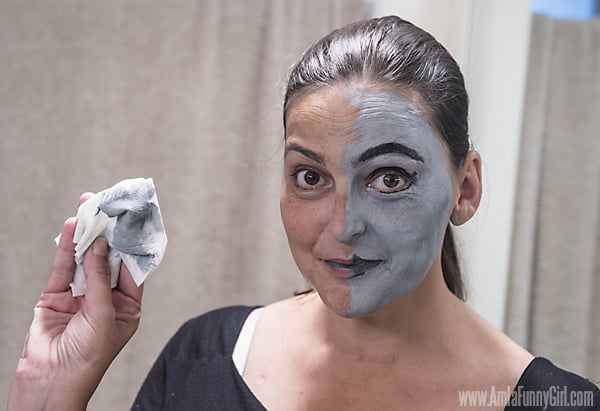 Half cleaned face #HallowCleanFaceOff AD