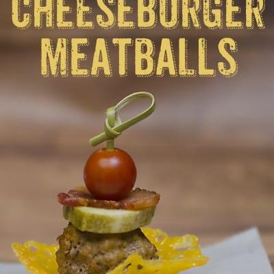Bacon Cheeseburger Meatball Appetizer