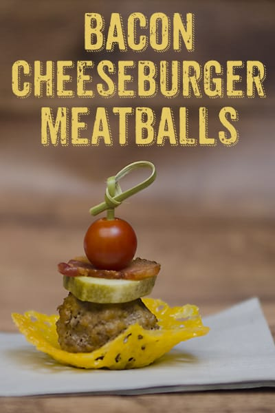 Bacon Cheeseburger Meatball Appetizer #NaturallyCheesy AD