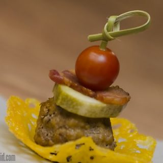 Bacon Cheeseburger Meatball Appetizer
