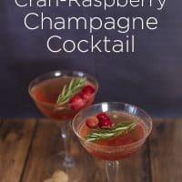 Light & Fresh Cran-Raspberry Champagne Cocktail