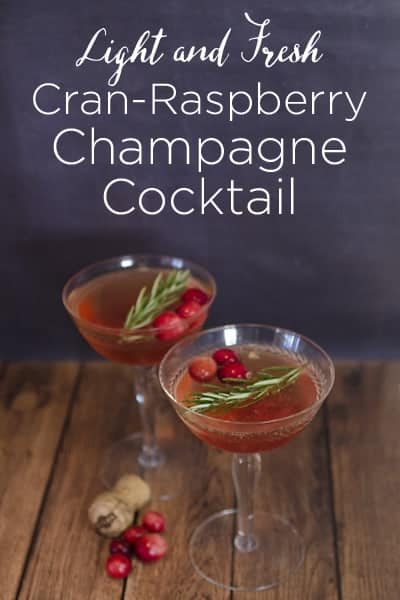 Cran-Raspberry Champagne Cocktail #WaterMadeExciting AD