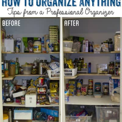How to organize anything: Tips from a Professional Organizer