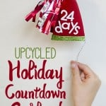 Upcycled Holiday Countdown Garland