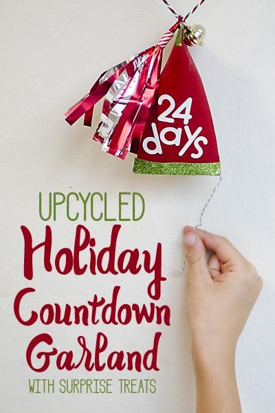 Upcycled Holiday Countdown Garland #HolidayMoments AD