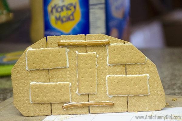 Finished teardrop wall #HoneyMaidHouse AD