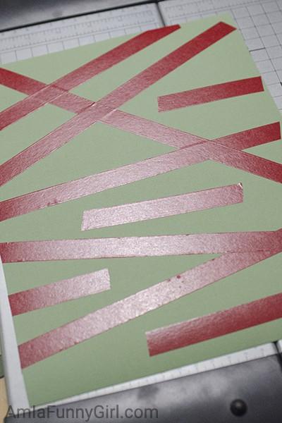 Tape on cardstock #CraftAmazing AD